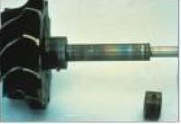 Bilde av brent og misfarget aksling – brent radiallager