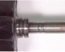 Bilde av Ripete aksling på radiallager bane pga urenheter