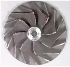 Bilde av et skadet kompressorhjul